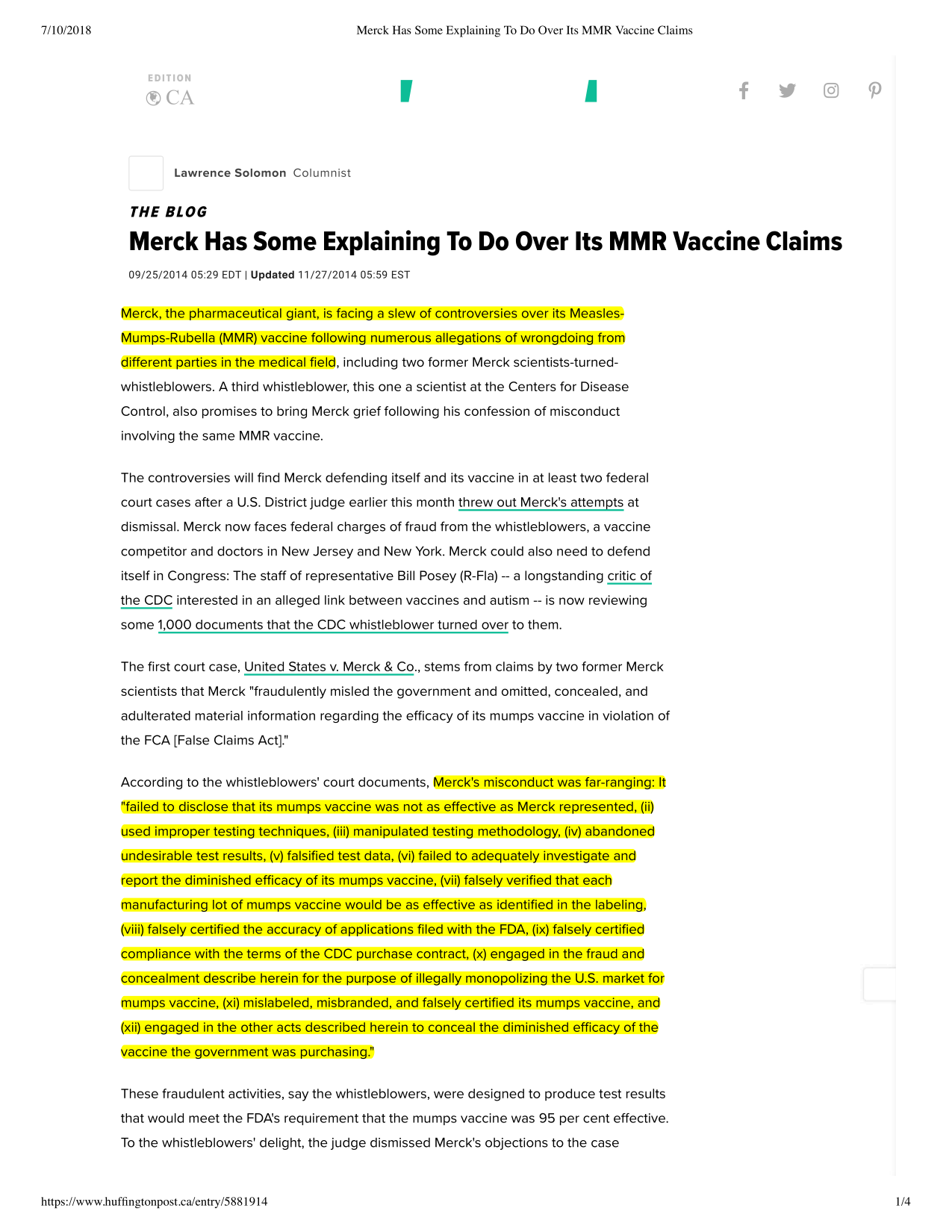 Vaccine Guide - Merck has some explaining to do over its MMR